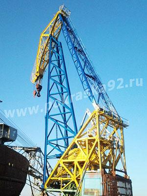 Покраска портового крана г. Севастополь