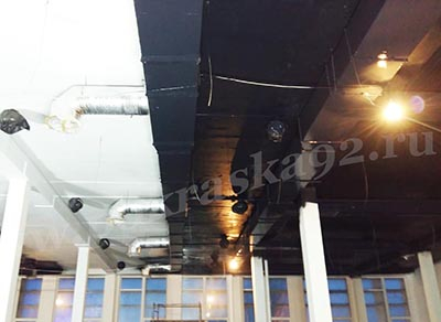 Покраска потолка гипермаркета DNS в г. Керчь