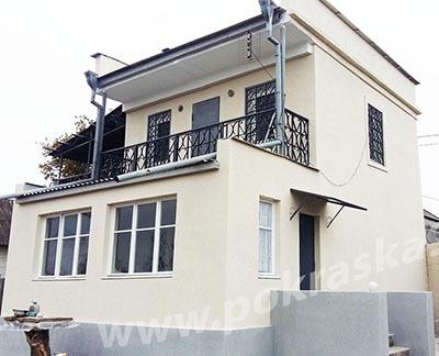 Утепление и покраска фасада дома