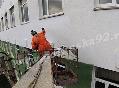 Покраска фасада общежития в/ч Казачья бухта