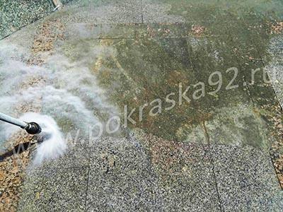 Очистка гранитной плитки от загрязнений строительными материалами