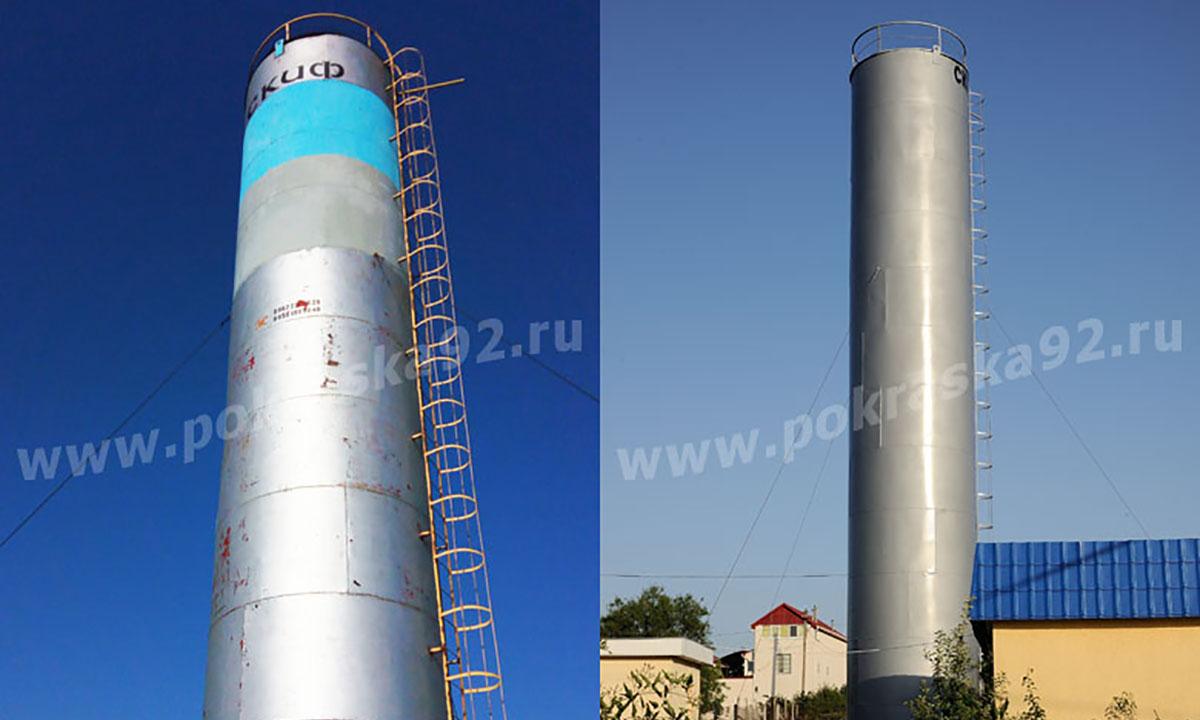 Покраска водонапорной башни Рожновского в Севастополе