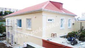 Покрасить фасад дома Севастополь с лесов