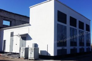 Шпаклевка стен и покраска фасада здания