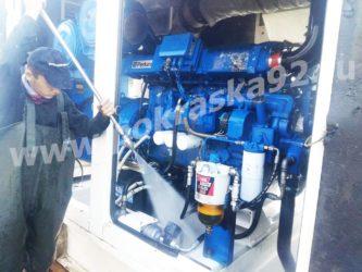 Гидроструйная очистка двигателя