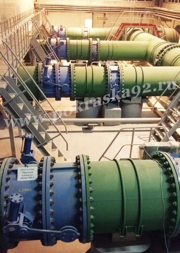 Промышленная окраска больших объемов Симферопольской ТЭС